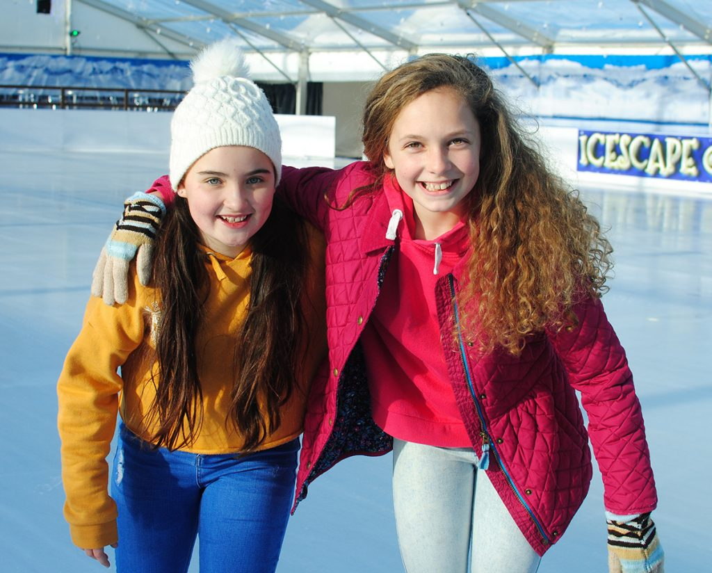 Girls on the ice at The Tropicana